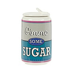 Ben de Lisi Home - Designer ceramic 'Gimme some sugar' storage jar