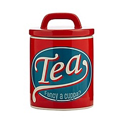 Ben de Lisi Home - Designer ceramic retro 'Tea' storage jar