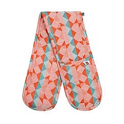 Ben de Lisi Home - Designer orange broken jacquard double oven glove