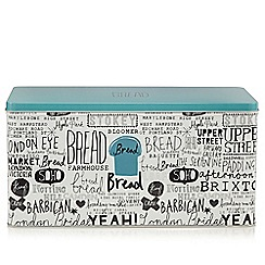 Ben de Lisi Home - Designer metal London slogan bread tin