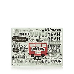 Ben de Lisi Home - Designer glass 'London Bus' worktop saver