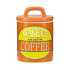 Ben de Lisi Home - Orange coffee storage jar