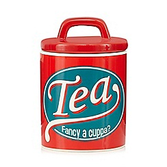 Ben de Lisi Home - Red tea storage jar