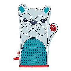 Ben de Lisi Home - Designer light blue dog oven mitt