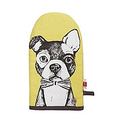 Ben de Lisi Home - Yellow etched dog oven mitt