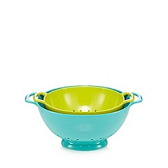 Ben de Lisi Home - Set of two green colanders