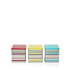 Ben de Lisi Home - Set of three striped tins