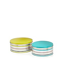 Ben de Lisi Home - Set of two striped tins