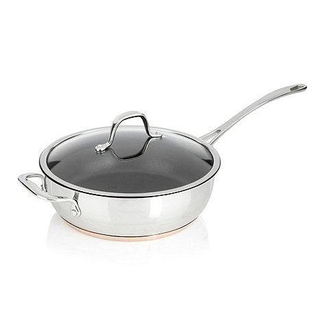 J by Jasper Conran - Stainless steel 24cm copper bottom covered saute pan