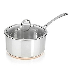 J by Jasper Conran - Stainless steel 20cm copper bottom saucepan
