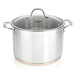 J by Jasper Conran - Stainless steel 24cm copper bottom stockpot