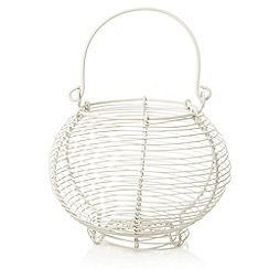 J by Jasper Conran - Cream wire egg basket