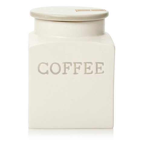 J by Jasper Conran - Ceramic square based coffee jar