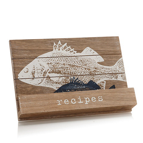 J by Jasper Conran - Designer wooden fish recipe stand