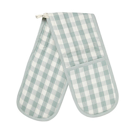 J by Jasper Conran - Designer green gingham double oven glove
