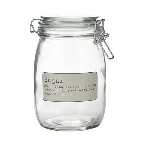 J by Jasper Conran - Designer glass +Sugar+ storage jar