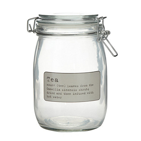 J by Jasper Conran - Designer glass +Tea+ storage jar