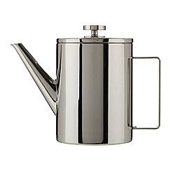 J by Jasper Conran - Designer double wall silver teapot