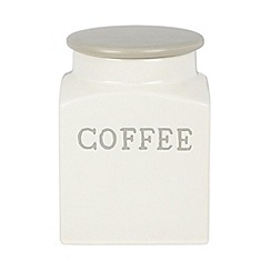 J by Jasper Conran - Designer ceramic cream 'coffee' storage jar