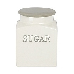 J by Jasper Conran - Designer cream 'sugar' storage jar