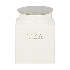 J by Jasper Conran - Designer ceramic cream 'tea' storage jar