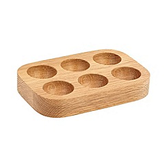 J by Jasper Conran - Designer solid oak egg holder