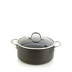 J by Jasper Conran - Designer hard anodised aluminium 24cm non stick stock pot