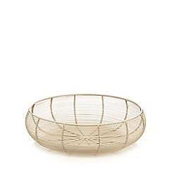 J by Jasper Conran - Designer cream large wire bowl