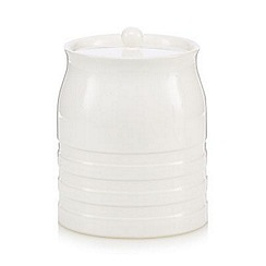 J by Jasper Conran - Designer large ceramic ribbed storage jar