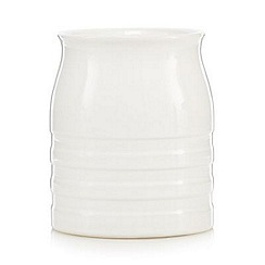 J by Jasper Conran - Designer ceramic ribbed utensil jar