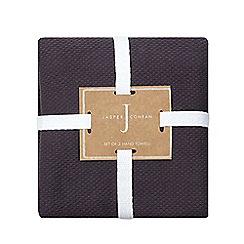 J by Jasper Conran - Designer set of three grey woven hand towels