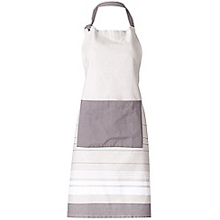 J by Jasper Conran - Designer grey striped apron
