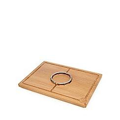 J by Jasper Conran - Oak spiked ring carving board