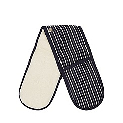 J by Jasper Conran - Navy striped oven gloves