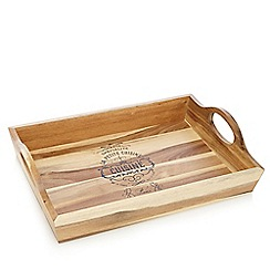 Debenhams - Wood 'Cuisine' bistro tray