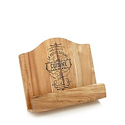 Debenhams - Wooden 'Bistro' recipe book stand