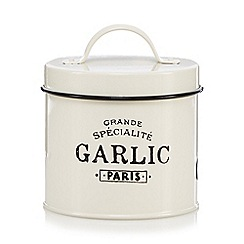 Debenhams - Ceramic round bistro garlic tin