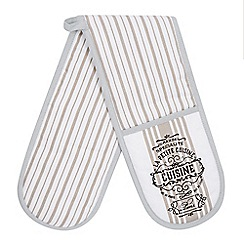Debenhams - Cream lined bistro double oven gloves