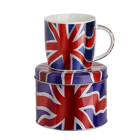 Queens by Churchill - Union Jack mug in tin