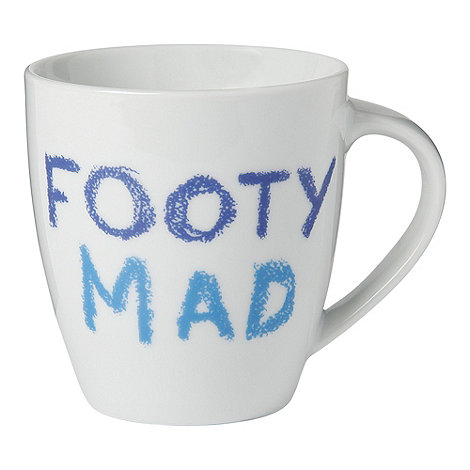 Jamie Oliver - Blue +Footy mad+ mug