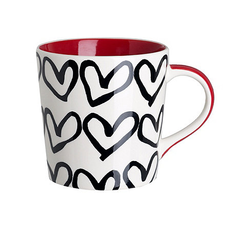 Debenhams - Red love hearts mug