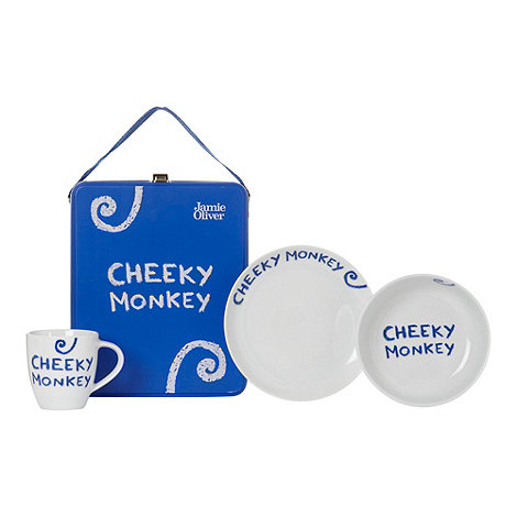 Jamie Oliver - Blue cheeky monkey breakfast set