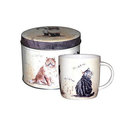 Queens by Churchill - Multi coloured cats mug in tin