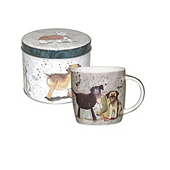 Queens by Churchill - Multi coloured dogs mug in tin