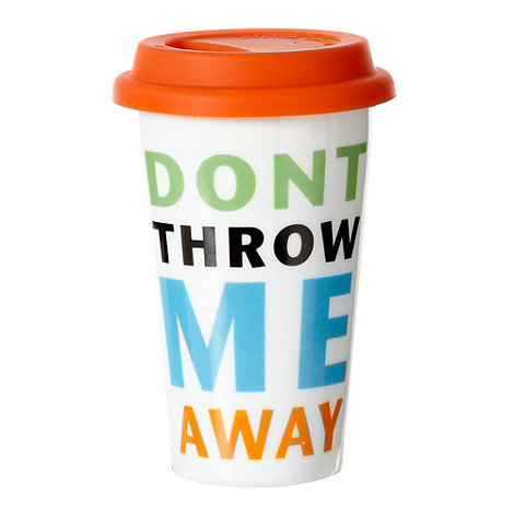 Creative Tops - Don+t throw me away+ travel mug