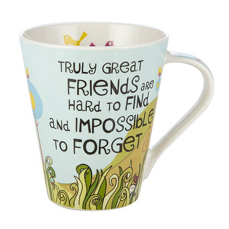 Queens by Churchill - Light blue 'Truly great friends' mug