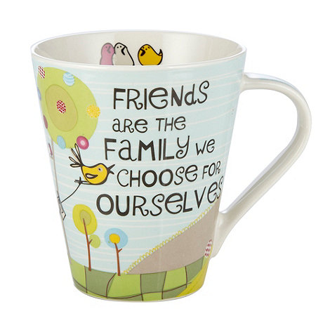 Queens by Churchill - Light blue +Friends are family+ mug