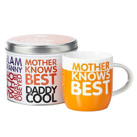 Ben de Lisi Home - Orange +Mother knows best+ mug