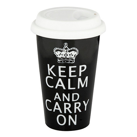 Creative Tops - Black +Keep calm+ travel mug