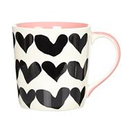 Dark pink closed hearts mug
